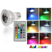 Jual Lampu Bohlam LED Color Changing Light Bulb with Wireless Remote Murah