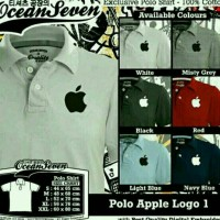 polo shirt apple/kaos kerah apple