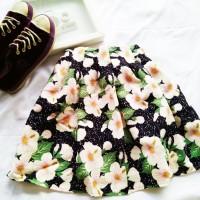 rok obral murah grosir skirt wanita import bagus floral flare