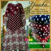 Jual daster jumbo baju tidur dewasa gamis longdress batik Murah