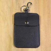 Dompet Stnk Mobil / Motor Kulit Sapi Asli Warna Hitam   Keychain