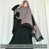 MODEL KHIMAR POCKET 01 MOTIF TERBARU