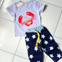 harga pakaian anak laki laki / baju setelan kaos celana jeans l367 Tokopedia.com