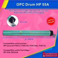 OPC Drum HP 55A CE255A, Printer HP LaserJet P3015, P3015d, P3015dn,