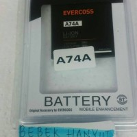 harga Batre/batrai/baterai/battery Evercoss Cross A74a Original Tokopedia.com