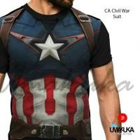 Jual kaos 3D full print, CA civil war Murah