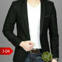 blazer gaya eropa (J 04 black)