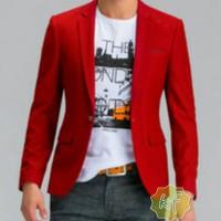 blazer pria warna merah keren