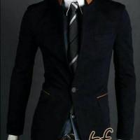 blazer korean style (simple black 02