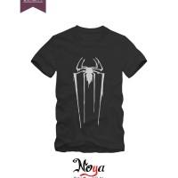 kaos baju anak superhero spiderman glow in the dark band hitam