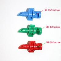 10 Pcs Sudut 360 (merah) Micro Spray Irigasi Emitter Drip Irrigation