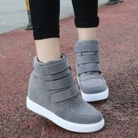 harga Sneakers Boot Rekat Wanita Murah Tb-724 Abu Tokopedia.com