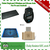 Paket Keyboard wireless and Mouse Gaming AULA For PC or Android