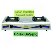 Kompor Gas 2 Tungku Rinnai 522 E - Stainless