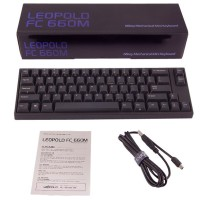 Leopold FC660M Black PBT Keycaps Mechanical Keyboard (Brown Cherry MX)