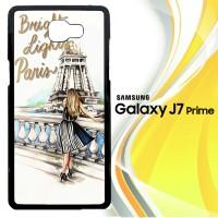 Bright Lights Paris E0324 Casing HP Samsung Galaxy J7 Prime Custom Ca