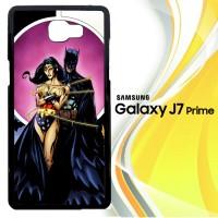 Batman Love Wonder Woman Y0848 Casing HP Samsung Galaxy J7 Prime Cust