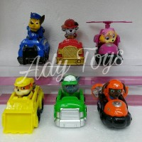 6pcs / Set Paw Patrol & 6pcs / Set Mobil Paw Patrol Action Figure