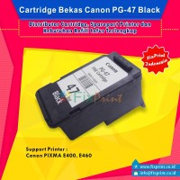 Cartridge Bekas Canon PG-47 PG47 Black , Printer Canon E400 E460
