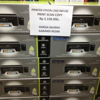 Printer Epson L360 Print Scan Copy Infuse Pengganti L220 Printer