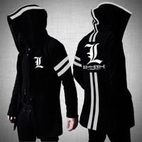 Death Note - Jaket / Jacket Jubah Hoodie L-Lawliet Anime Black/Hitam