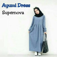 Gamis Atasan Blouse Tunik Wanita Baju Muslim Blus Muslim Ayumi Dress