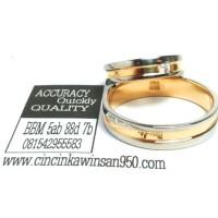 cincin kawin couple emas kuning R2066