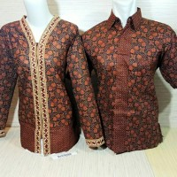 Baju Batik Couple / sarimbit bordir : corak Jawa