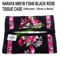 NB01B F2040 Black Rose Dompet Tisu Naraya Asli Thailand