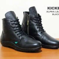 harga Sepatu Pria Kickers Alpha Leather Boots Made France Asli Import Tokopedia.com