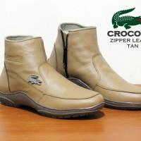 harga Sepatu Pria Crocodile Zipper Boots Leather Made France Asli Import Tokopedia.com