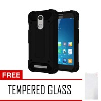 Softcase Spigen Though Armor For Xiaomi Redmi Note 3 + Tempered Glass
