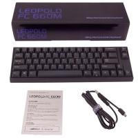 Keyboard Leopold FC660MR/EBP Black PBT Keycaps (Red Cherry MX)