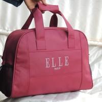 harga tas wanita travel elle marun tas pakaian jinjing slempang grosir murah Tokopedia.com