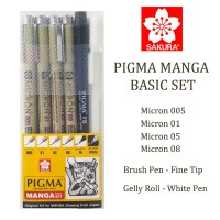 Jual Sakura Pigma Manga Basic Set Murah