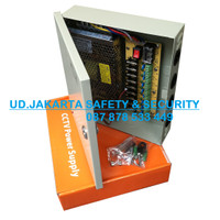 JUAL SUPER POWER SUPPLY FOR CCTV 10AMP WITH PANEL 9CH MURAH JAKARTA