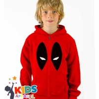Jual Hoodie Zip / Jaket Sweater Deadpool Marvel Anak Murah