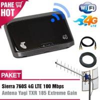 Paket Modem Mifi/ Wifi Sierra 760S 4g Lte 100mbps + Antena Yagi Grid T
