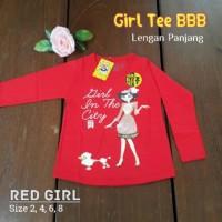 Kaos lengan panjang Bumblebee - Red Girl