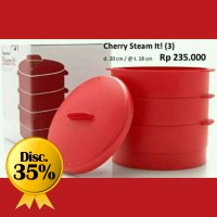 [PROMO] Tupperware Cherry Steam It 3 tingkat LIMITED