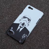 CUSTOMCASE OPPO NEO 7 STORM TROOPER STAR WARS FULLBODY HARDCASE
