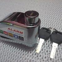 ALARM LOCK CAKRAM 110db GEMBOK SEPEDA MOTOR PAGAR ANTI MALING BERSUARA