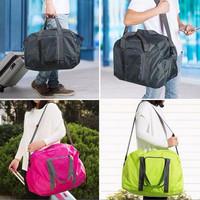 collapsible shouider bag, tas lipat traveling pundak