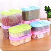 Kitchen seal storage box makanan snack plastic storage multifungsi