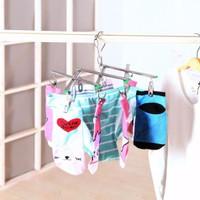 Gantungan kaus kaki 10 clip drying rack windproof socks 10 clip lipat