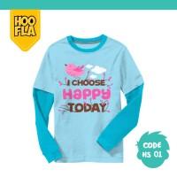 Baju Anak t shirt Kaos Atasan Karakter Laki Cowo Cewe HOOFLA HS01 M/L
