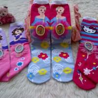 Jual kaos kaki anak selutut frozen, sofia, hello kitty - ! set (3 pasang) Murah