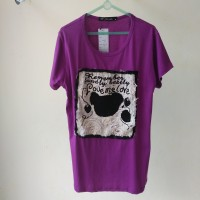 (NEW) Kaos wanita - UNGU - pakaian wanita murah -