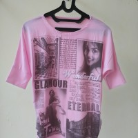 (NEW) Kaos wanita - PINK - pakaian wanita murah -