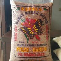 Jual beras merah super cap kupu kupu Murah
